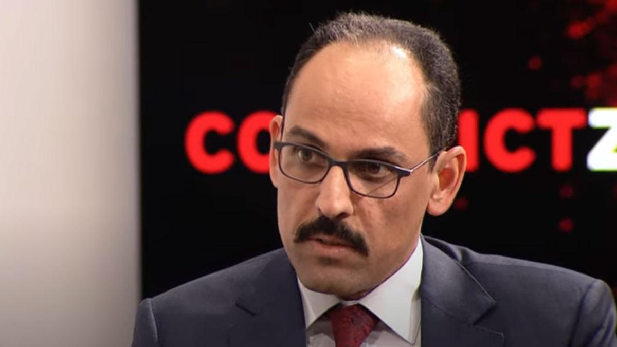 Saray Sözcüsü İbrahim Kalın'ın zor anları: Gazeteci, sorularıyla terletti
