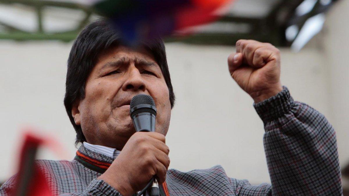Morales dayanışma için teşekkür etti