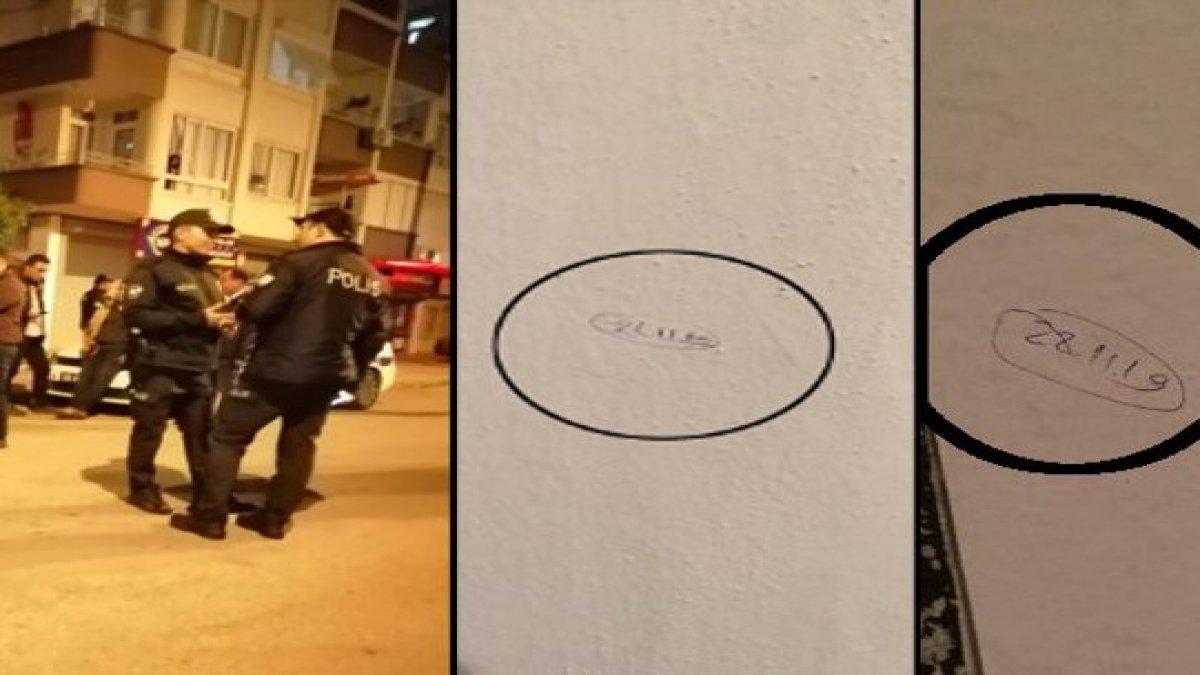 Alevilerin yaşadığı mahallede evlerin duvarına tarihler yazıldı