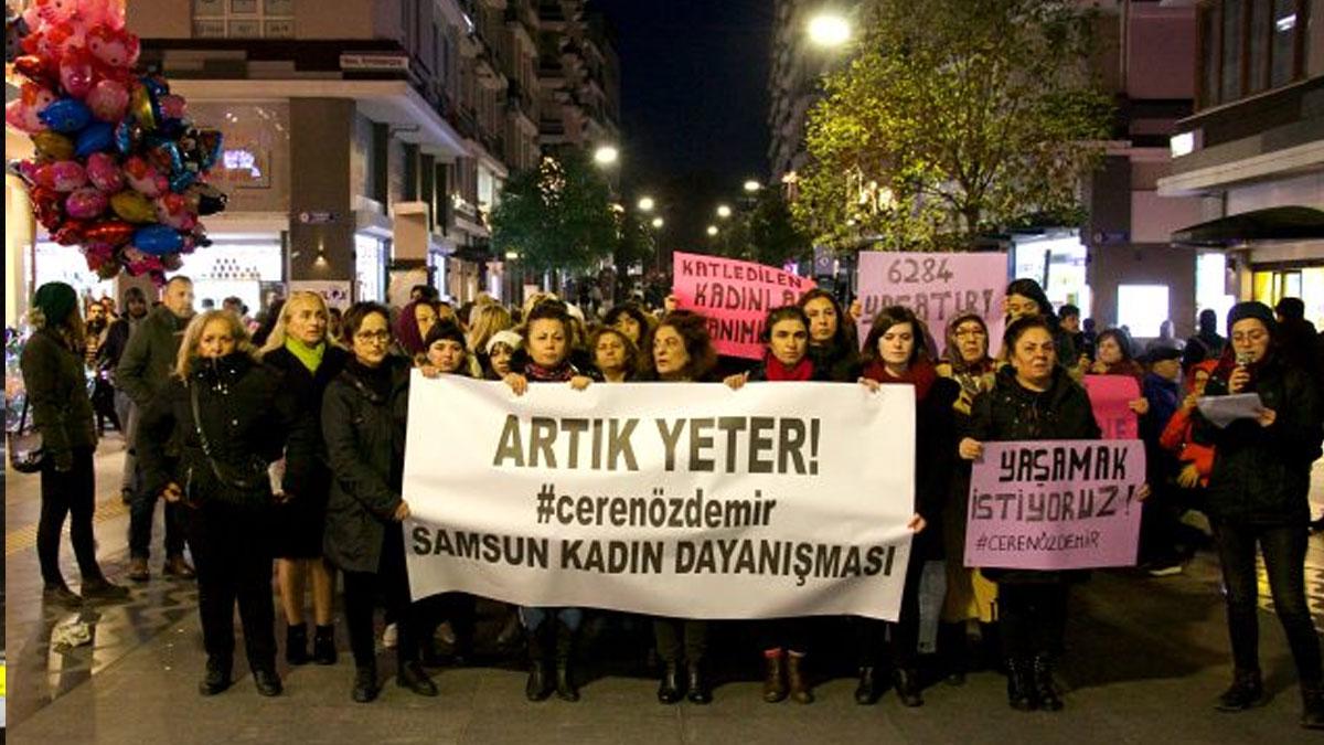 Samsun'da Ceren Özdemir için yürüyüş