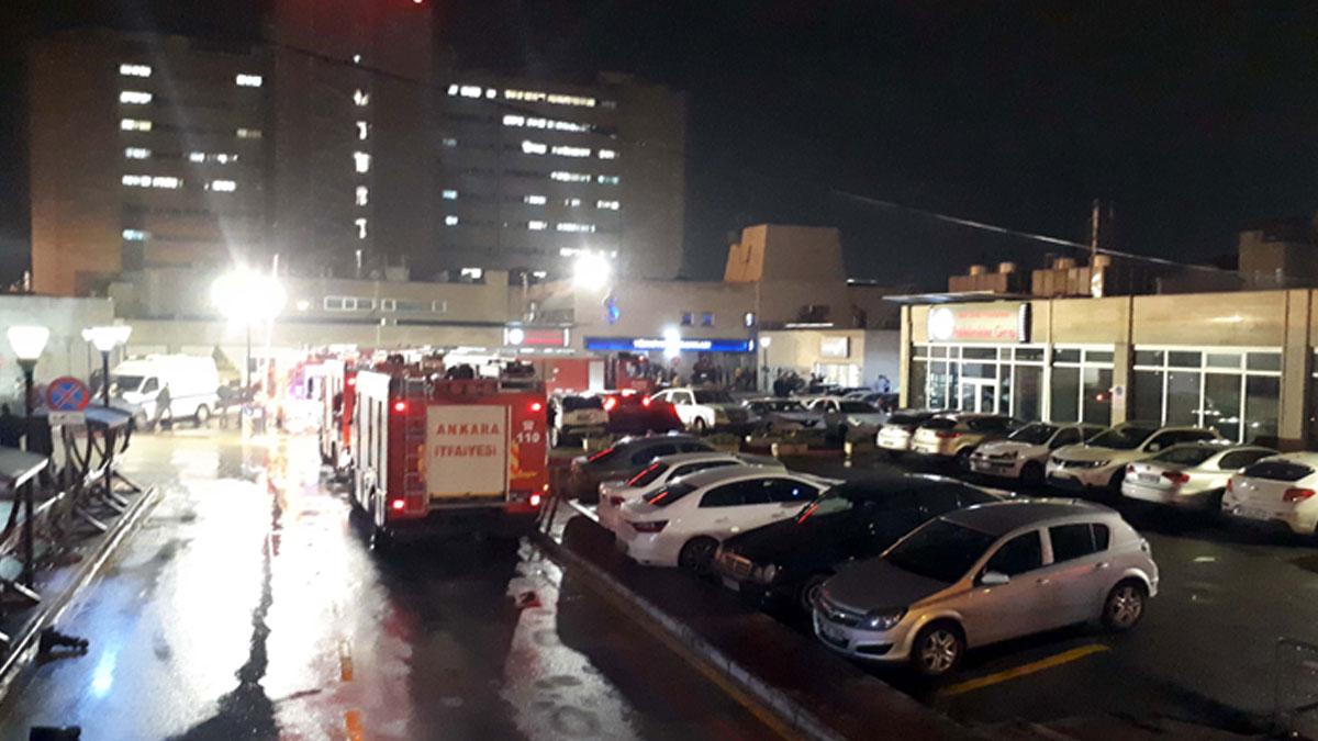 Başkentte hastane arşivinde yangın çıktı