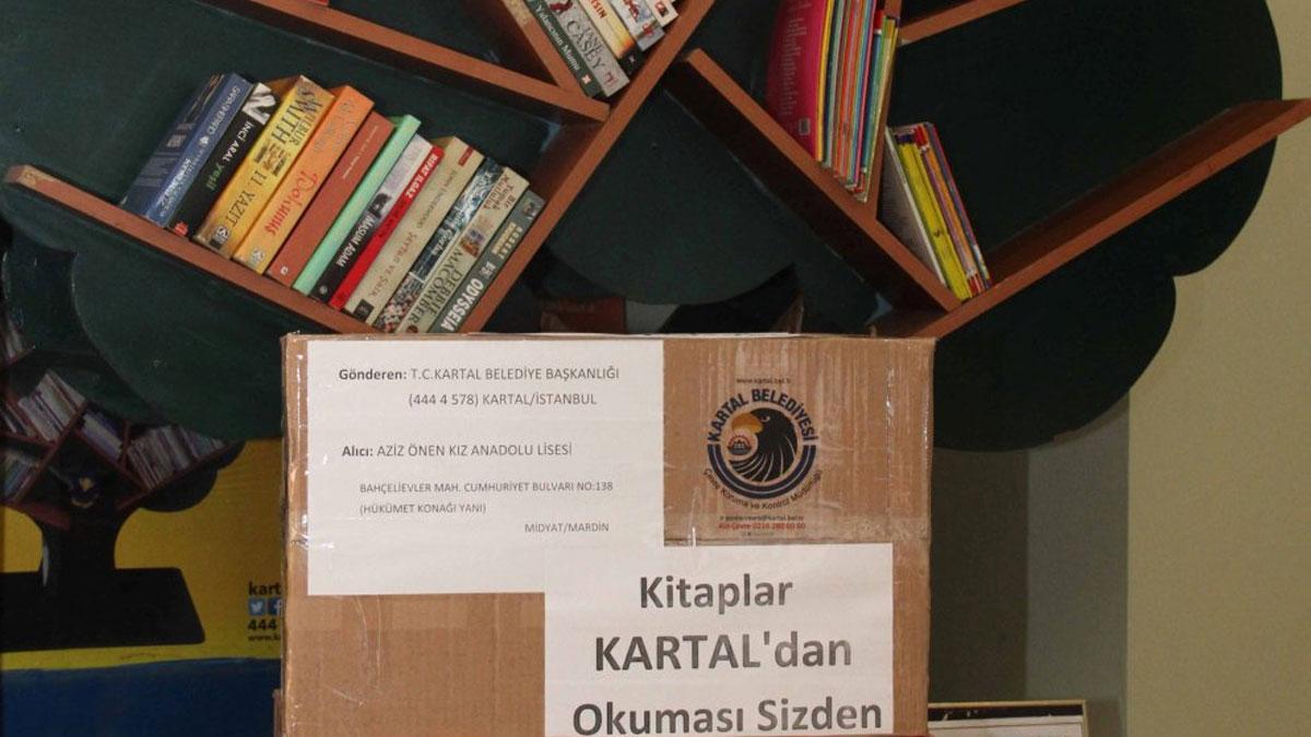 Kartal'dan Mardin'e kitap köprüsü