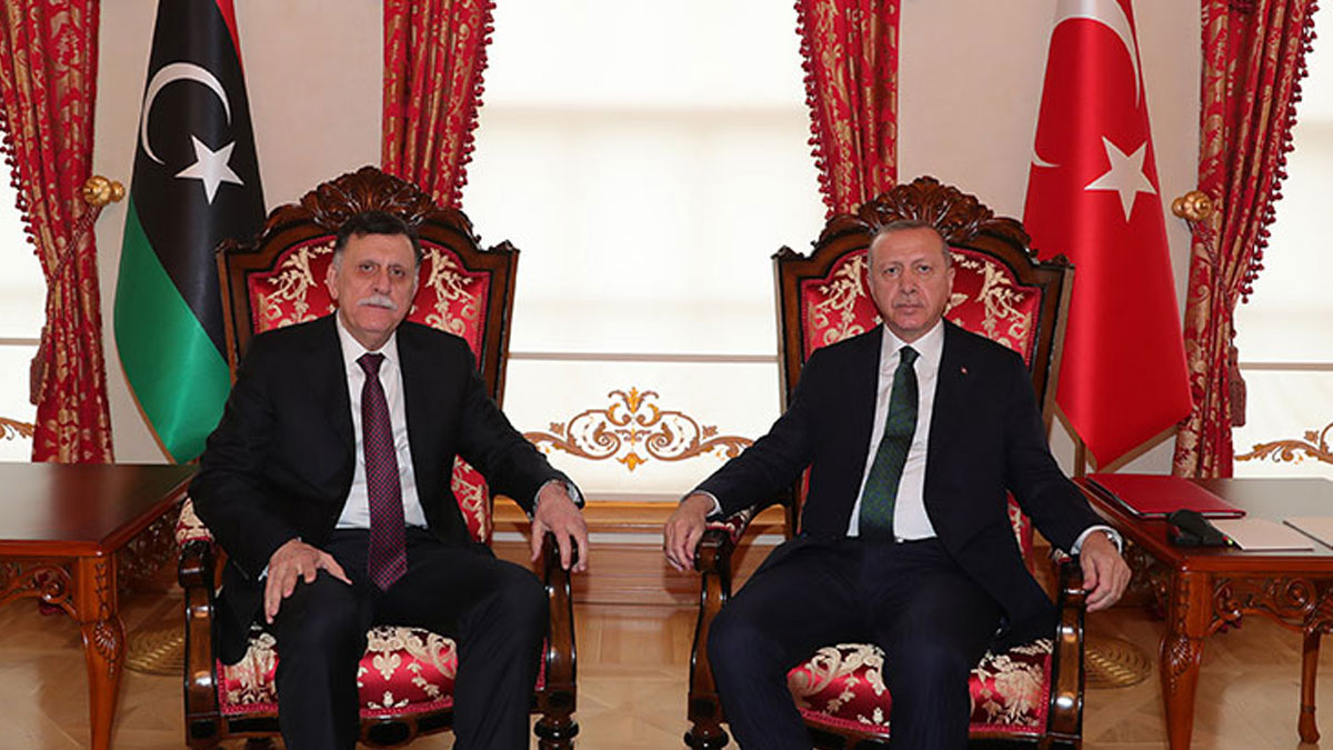Erdoğan ve Sarraj görüşmesi sona erdi