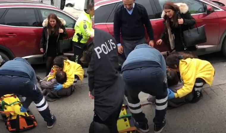Kadıköy'de 85 yaşındaki bir kadın, çekicin kaldırdığı araçtan düştü
