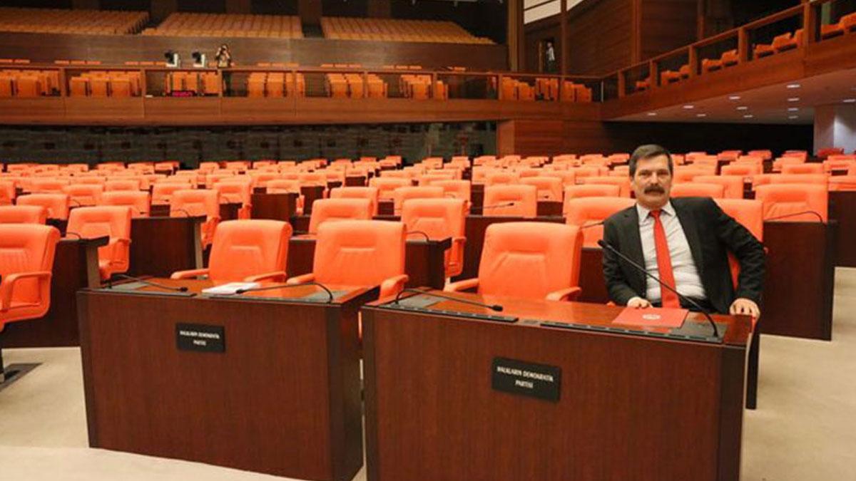 Meclis toplanamadı: Erkan Baş Meclis'te tek başına