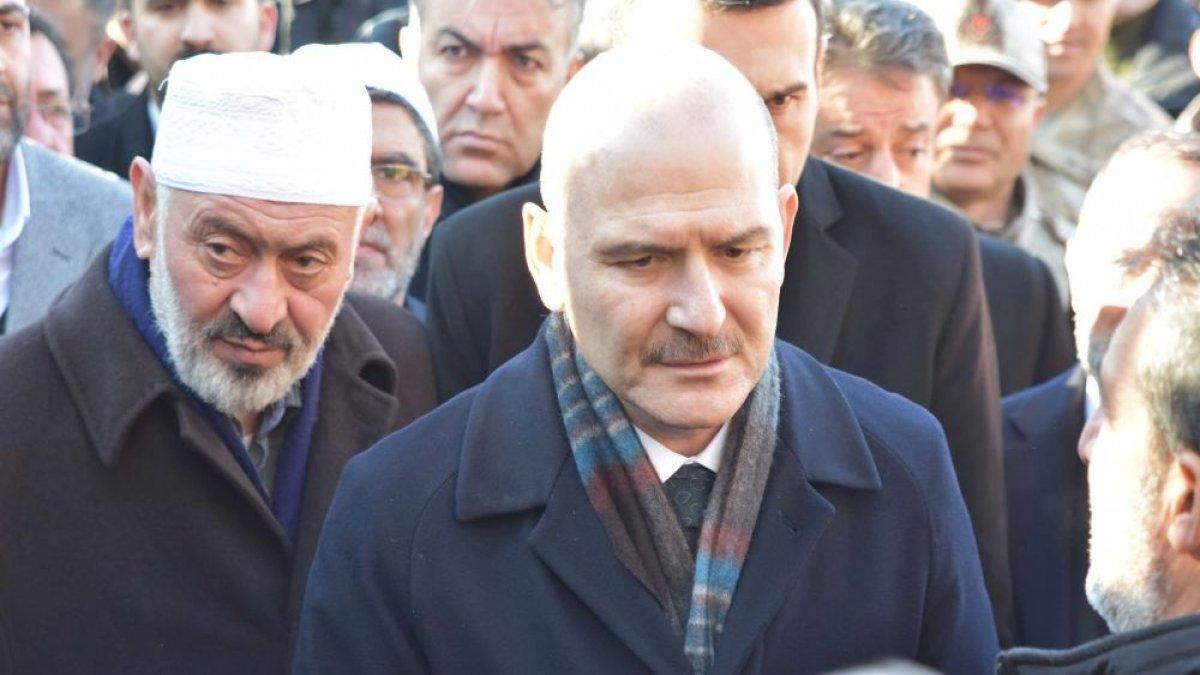 Soylu, Nakşibendi şeyhi Abdülkerim Çevik'in ailesini ziyaret etti