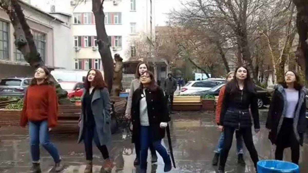 Ankara Üniversitesi'nde Las Tesis dansı yapan öğrencilerin KYK bursu kesildi
