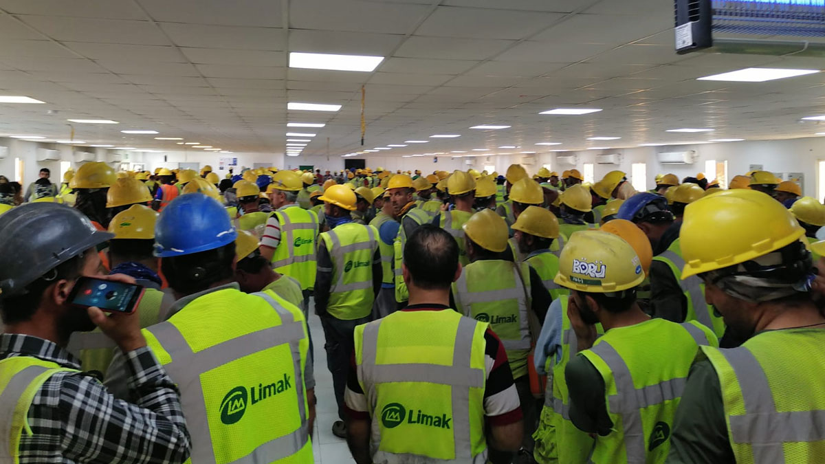 Kuveyt'teki Limak işçileri ayaklandı: Tedbirler alınmıyor, haklarımız ödenmiyor