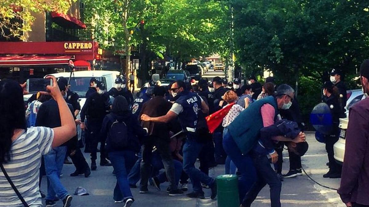 Ankara'da Soma anmasında çok sayıda gözaltı!