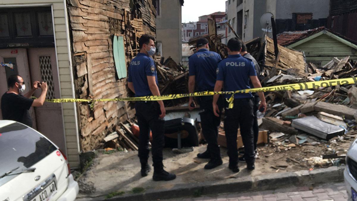 İki ay önce yangın çıkan binadan insana ait kafatası çıktı
