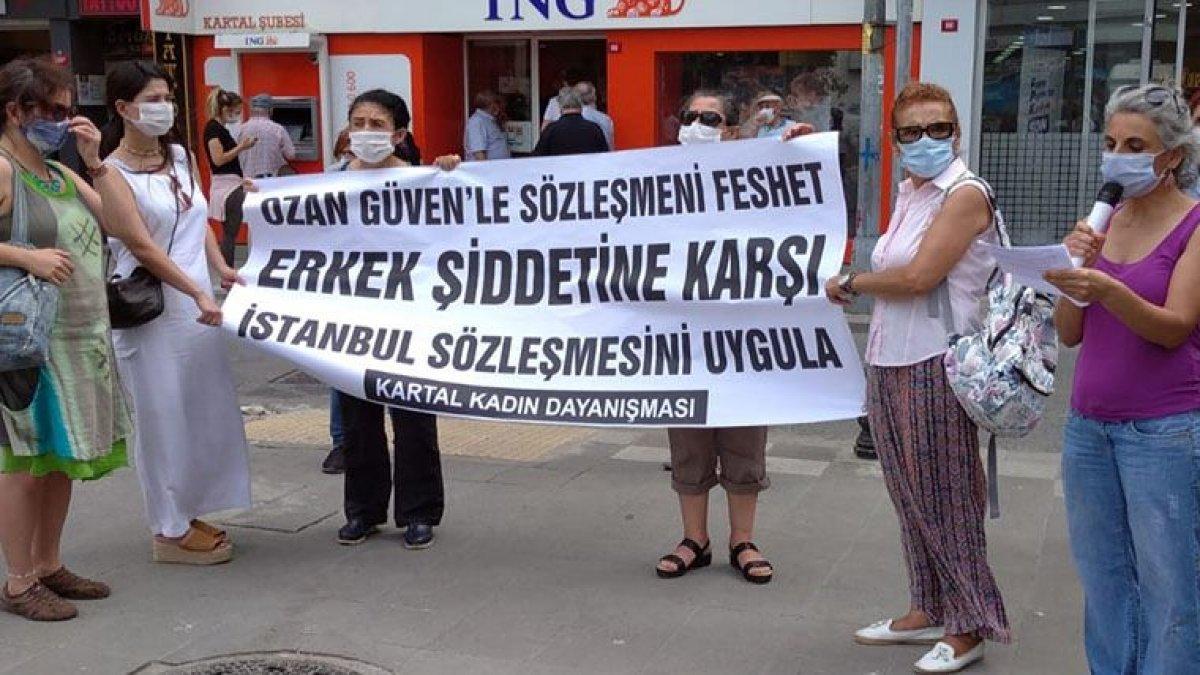 Ozan Güven ING önünde protesto edildi