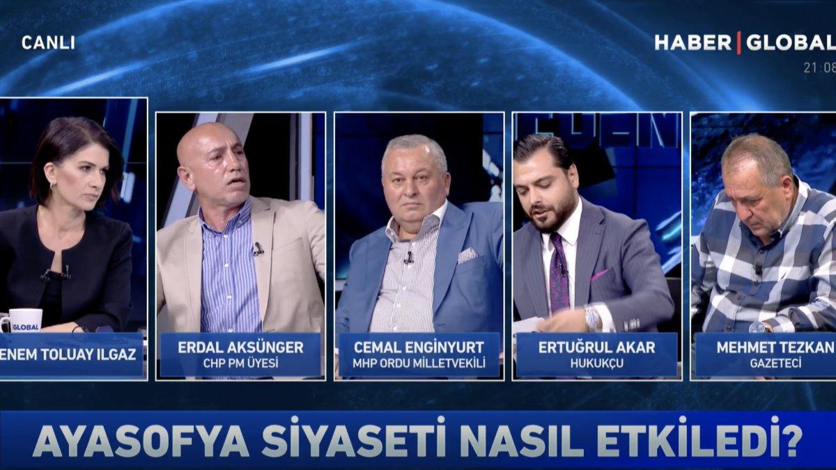 CHP'li Aksünger canlı yayını terk etti - VİDEO