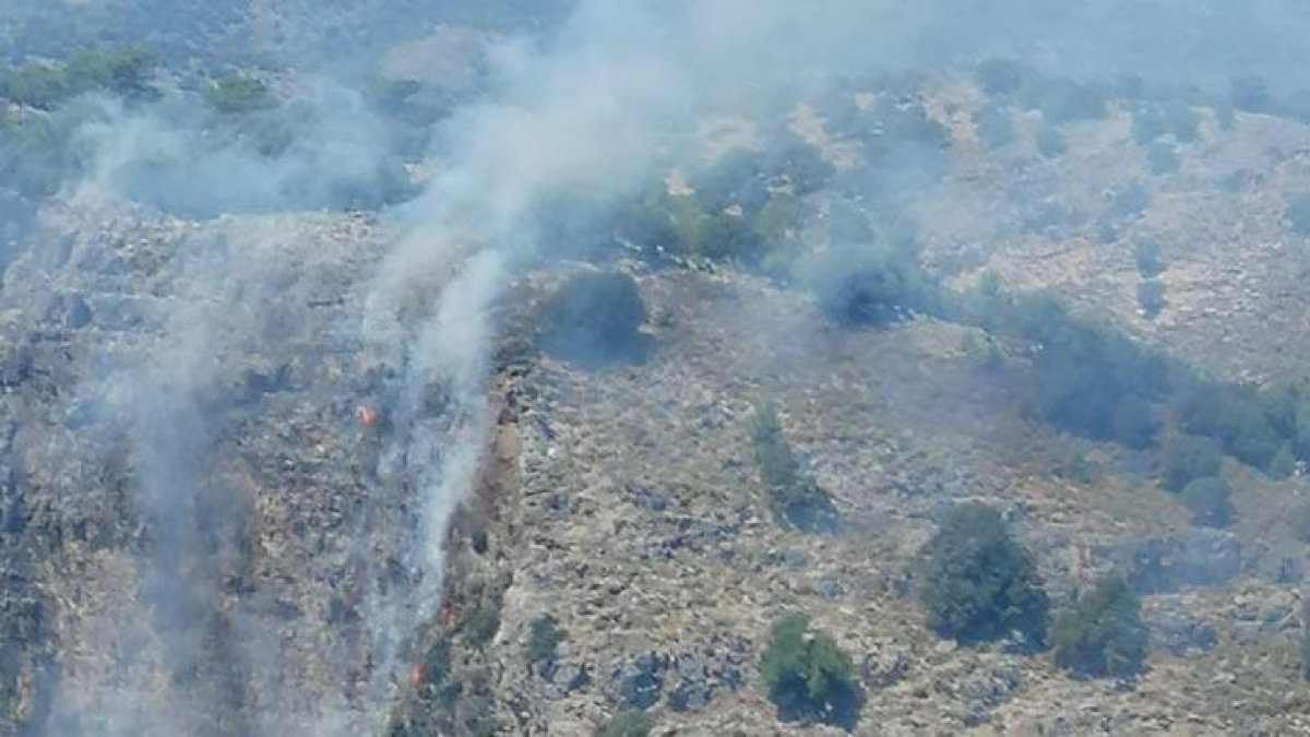 Muğla'da orman yangını: Karadan müdahale edilemiyor
