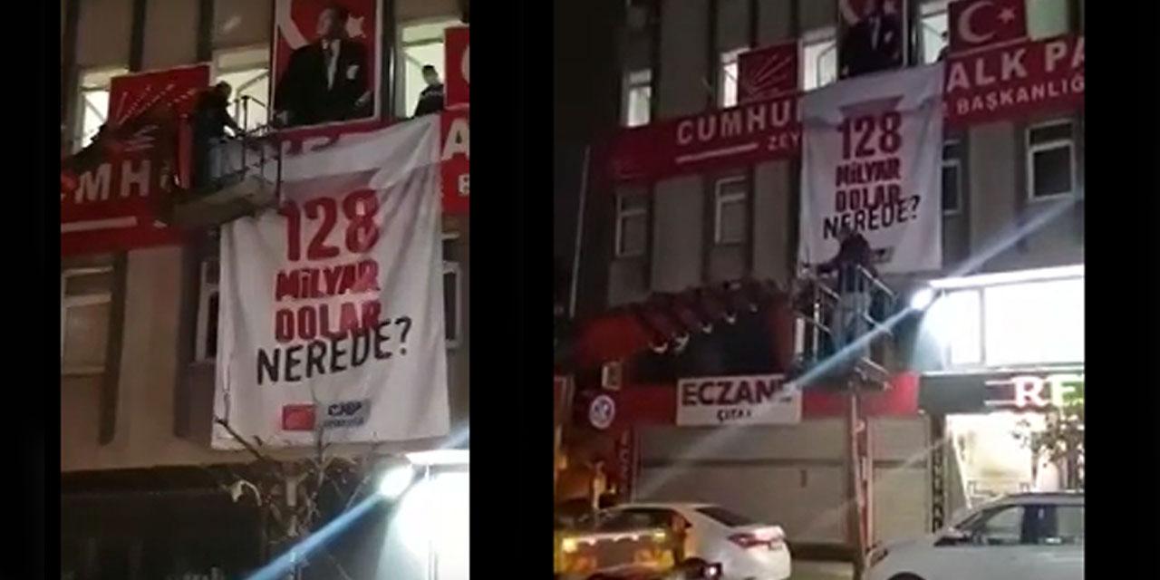 """İstanbul'da CHP'nin afişlerine gece yarısı operasyonu! """"128 milyar dolar nerede?"""" afişleri sökülüyor"""