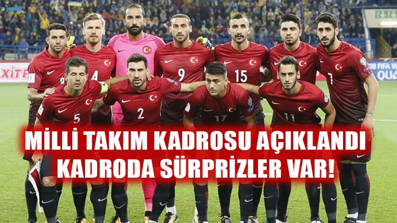 A Milli Futbol Takımı'nın Romanya ve Arnavutluk maçları aday kadrosu açıklandı