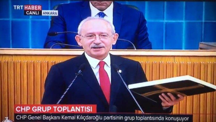 """Kemal Kılıçdaroğlu, """"Kutuyu açıyorum"""" dedi TRT yayını kesti!"""