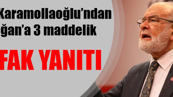 Temel Karamollaoğlu'ndan Erdoğan'a 3 maddeli ittifak yanıtı