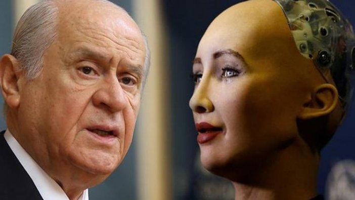 İnsansı robot Sophia'nın tasarımcısından Bahçeli'ye yanıt: Eğer yeterince cesursa...