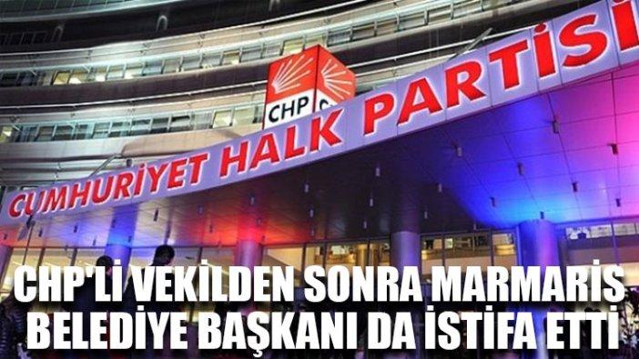 CHP'li vekilden sonra Marmaris Belediye Başkanı da istifa etti