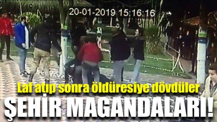 Şehir magandaları genç çifte önce laf atıp sonra öldüresiye dövdüler