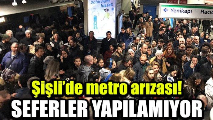Şişli'de metro arızası! Seferler yapılamıyor