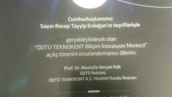 ODTÜ Rektörlüğü, Erdoğan için akademik takvimi değiştirdi