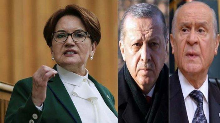 """Anketlerle zora düşen Erdoğan ve Bahçeli'ye, Akşener'den bomba yanıt: """"Şimdi ilk defa bunu yapacak..."""""""