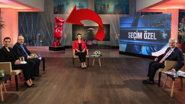 Yıldırım'ın katıldığı canlı yayında Türk bayrağına büyük saygısızlık