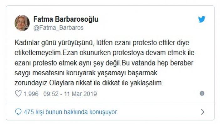 'Islıklı protesto' yalanına bir tepki de Yeni Şafak yazarından