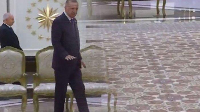 Erdoğan yeni halısını tanıttı: Hareke, 108 metrekare, yerli ve milli