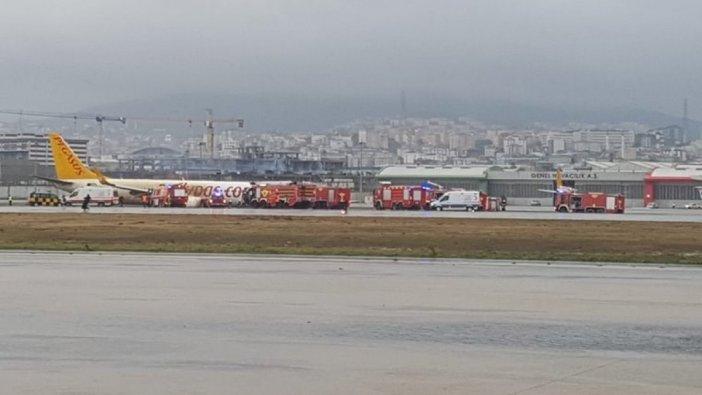 Sabiha Gökçen Havalimanı'nda yolcu uçağı pistten çıktı