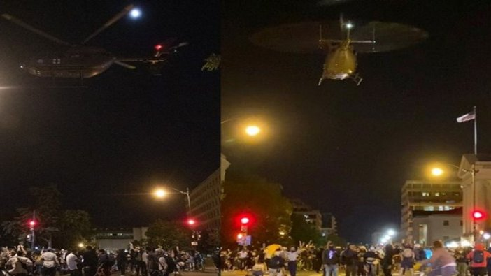 Washington'da askeri helikopterler protestocular üzerinde alçak uçuş yaptı: Soruşturma açıldı