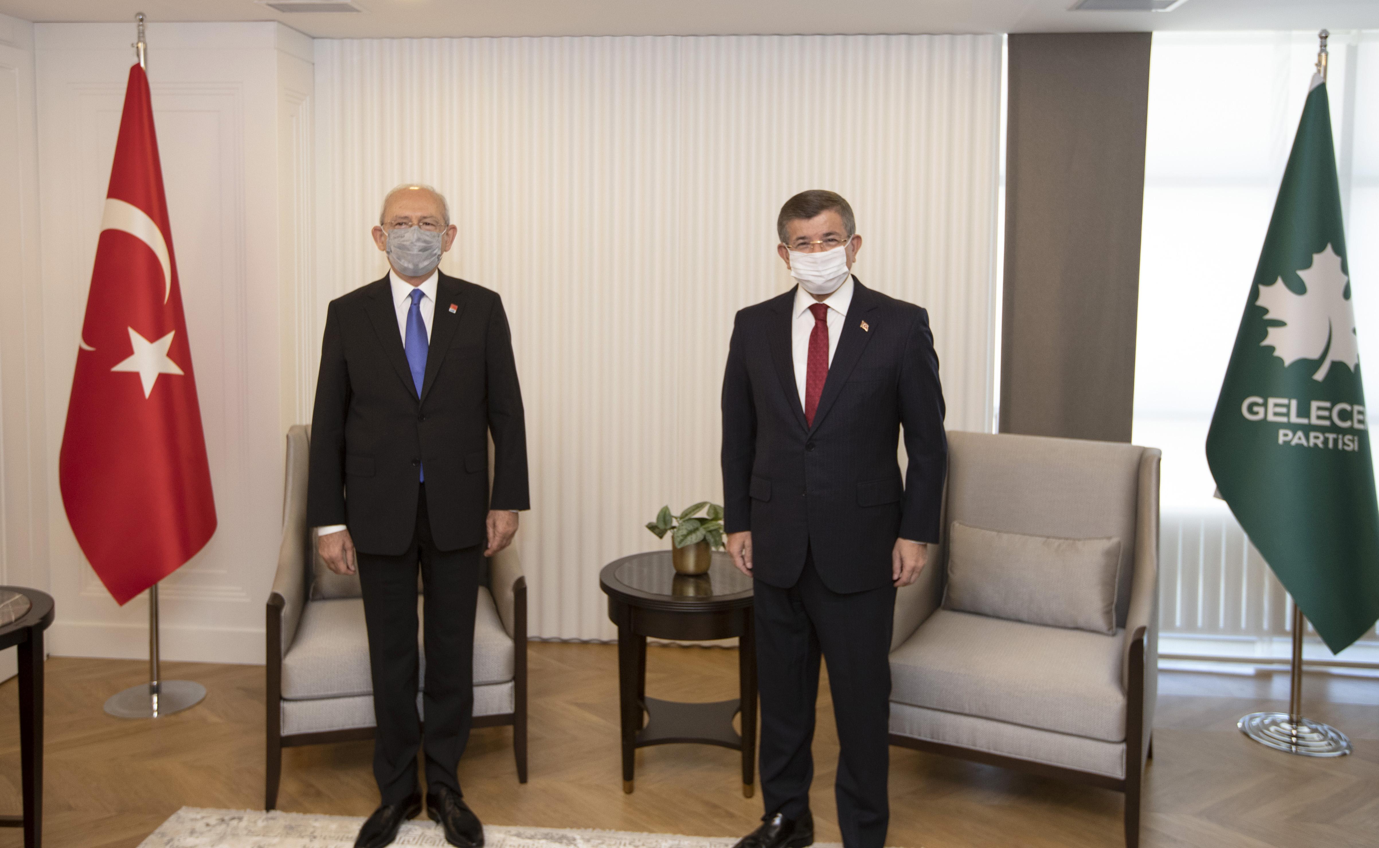 Kılıçdaroğlu ve Davutoğlu'ndan görüşme sonrası ortak açıklama