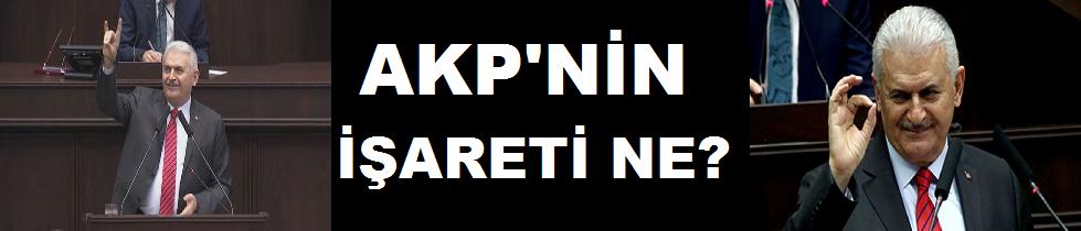 AKP'nin işareti ne? Erdoğan 'rabia' yapıyor, Yıldırım el sallıyor