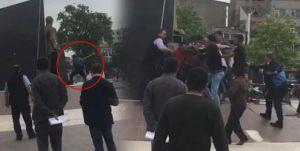 Atatürk anıtına saldırdı, halk linç etmek istedi, zabıta zorlukla kurtardı!