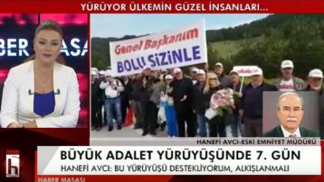 Eski emniyet müdürü Hanefi Avcı'dan 'Adalet Yürüşü'ne destek