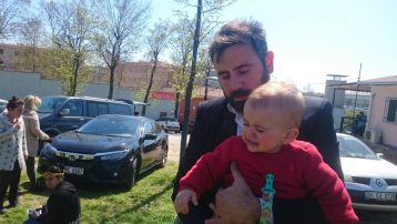 Miraz bebeğin babası Adalet Nöbeti'nde Halk TV'ye konuştu: Bebeğimi haftada bir gün hapisten çıkarabiliyorum