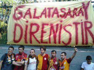 Galatasaray taraftar grubundan Adalet Yürüyüşü'ne katılım!