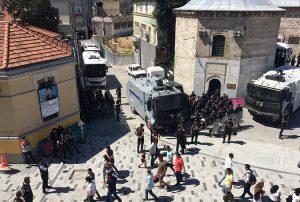 LGBTİ yürüyüşü öncesi Taksim'de polis yoğunluğu