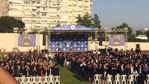 Boğaziçi Üniversitesi Mezuniyet Töreni'nde Kayyum Rektör'e protesto