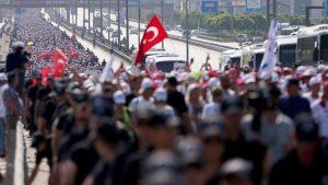 Adalet Yürüyüşüyle İstanbul'a ayak basan kişi sayısı 42 bin 840!