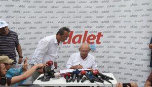 Adalet Yürüyüşü'nde yirminci gün; Kılıçdaroğlu imzaladı AİHM'e başvuruyor!