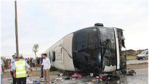 Giresun'da çocuk dolu otobüs devrildi: 38 yaralı