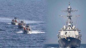 ABD donanması, İran hücum botuna uyarı ateşi açtı