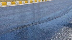 Sıcakların getirdiği tehlike: İzmir-Denizli yolunda asfalt eridi!
