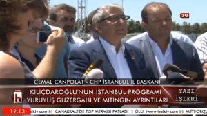 CHP İstanbul İl Başkanı Canpolat, 9 Temmuz programını açıkladı