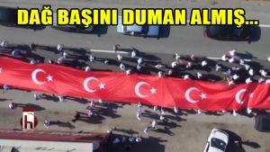 Adalet Yürüşünün Türk Bayraklı muhteşem klibi: Dağ başını duman almış