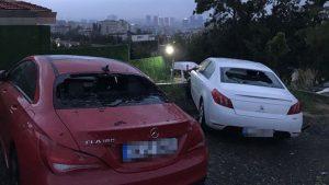 İstanbul'da doludan araçları hasar gören vatandaşlar tamircilere hücum etti