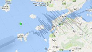 Ege Denizi'nde Gökçeada açıklarında 4,1 büyüklüğünde deprem oldu!