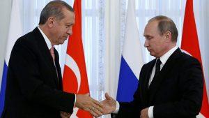 Cumhurbaşkanı Erdoğan'ın, Rusya Devlet Başkanı Putin ile görüştü
